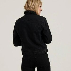 Brandy Melville Jackets & Coats - Black denim jacket with Sherpa lining